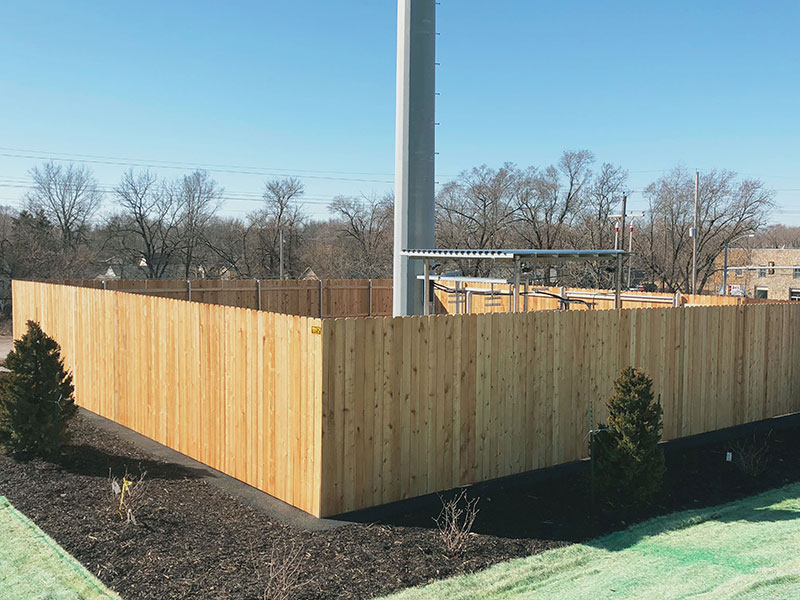 Privacy Fence Around A Verizon Cell Tower Mac S Fence