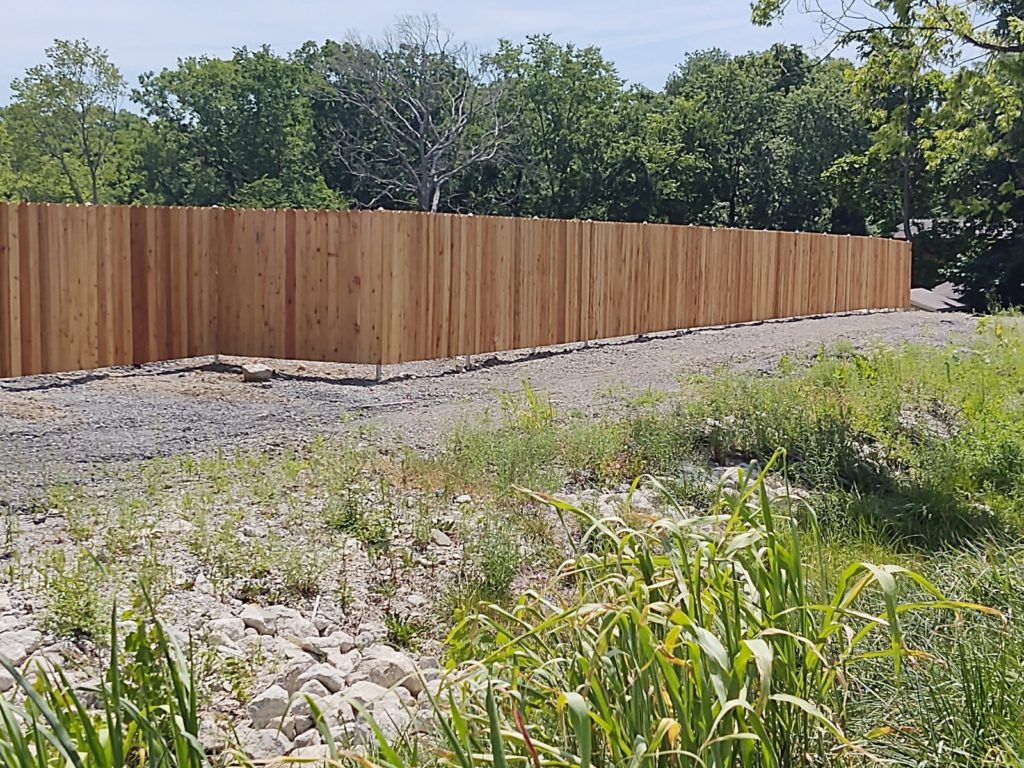 6' Wood privacy 2